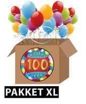 100 jaar feestartikelen pakket xl