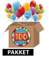100 jaar feestartikelen pakket