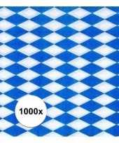 1000x blauw met witte ruitjes oktoberfest servetten