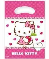 12x hello kitty feest uitdeelzakjes