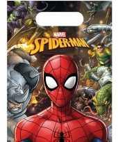 12x marvel spiderman uitdeelzakjes snoepzakje 16 x 23 cm kinderverjaardag