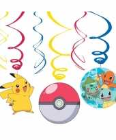 12x pokemon feest hangdecoratie rotorspiralen