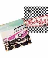 12x rock and roll feest servetten 33cm