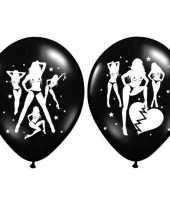 12x stuks vrijgezellenfeest ballonnen sexy vrouwen ballonnen