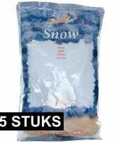 15x zak met 4 liter kunst sneeuw vlokken