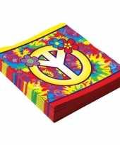 16x hippie servetjes 33 cm