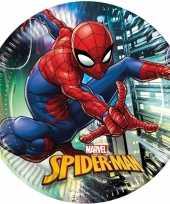 16x marvel spiderman eetbordjes gebaksbordjes 23 cm kinderverjaardag