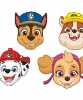16x paw patrol kinder feest maskers