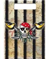 16x piraten uitdeelzakjes verjaardag