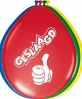 16x stuks gekleurde geslaagd thema ballonnen