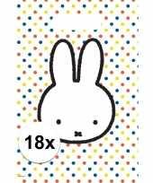 18x nijntje versiering eten uitdeelzakjes snoepzakjes 30 x 21 cm kinderverjaardag
