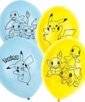 18x stuks pokemon thema party ballonnen