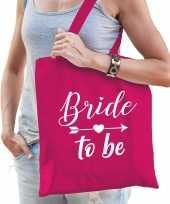 1x bride to be vrijgezellenfeest tasje roze dames