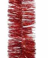 1x kerst lametta guirlandes kerst rood glitters glinsterend 7 5 x 270 cm kerstboom versiering decoratie