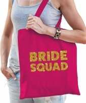 1x vrijgezellen bride to be tasje roze goud dikke letters dames