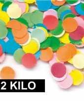2 kilo gekleurde confetti