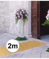 2 meter gouden glitter lopers bij 1 meter breed