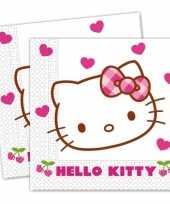 20x hello kitty feest servetten 20 cm