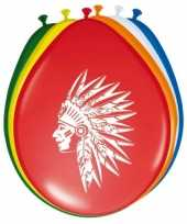 24x stuks indianen thema ballonnen