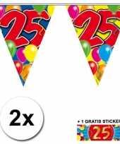25 jaar vlaggenlijnen 2x met gratis sticker
