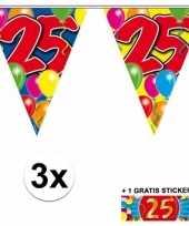 25 jaar vlaggenlijnen 3x met gratis sticker