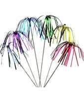 25x stuks gekleurde folie hapjes feestprikkers 16 cm