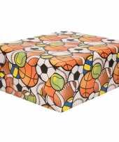 2x rol kinderverjaardag inpakpapier met ballen balletjes 200 x 70 cm