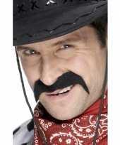 2x stuks cowboy verkleed snor