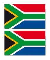 2x stuks gevelvlag vlaggenmast vlag zuid afrika 90 x 150 cm