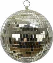 2x stuks gouden decoratie discoballen discobollen van foam 20 cm