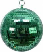 2x stuks kerstversiering kerstdecoratie grote groene disco kerstballen
