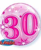 30 jaar geworden folie ballon 55 cm met helium 10089064