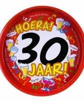 30ste verjaardag metalen dienblad 30 cm