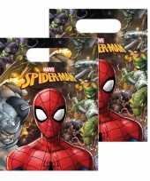30x marvel spiderman uitdeelzakjes snoepzakjes 16 x 23 cm kinderverjaardag