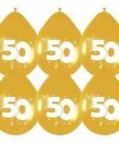 30x stuks leeftijd ballonnen gouden ballonnen 50 jaar