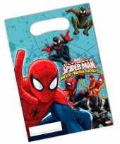 30x stuks spiderman thema feestzakjes
