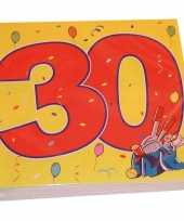 32x dertig 30 jaar feest servetten confetti 33 x 33 cm verjaardag jubileum