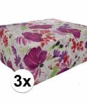 3x gekleurd cadeaupapier 70 x 200 cm type 9
