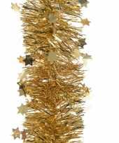 3x kerst lametta guirlandes goud sterren glinsterend 10 x 270 cm kerstboom versiering decoratie