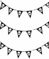 3x piraten vlaggenlijnen met schedels 360 cm