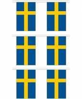 3x stoffen vlaggenlijnen zweden 3 meter