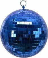 3x stuks kerstversiering grote blauwe disco decoratie kerstballen