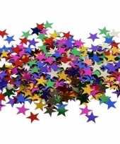 3x zakjes gekleurde sterren pailletten 10 gram