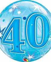 40 jaar geworden folie ballon 55 cm met helium