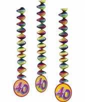 40 jaar versiering rotorspiralen setje van 9x stuks