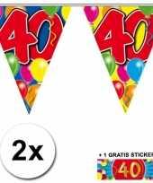 40 jaar vlaggenlijnen 2x met gratis sticker