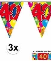 40 jaar vlaggenlijnen 3x met gratis sticker