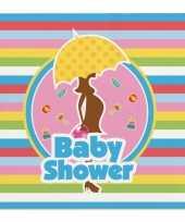 40x babyshower feest servetten gekleurd 25 x 25 cm kinderverjaardag