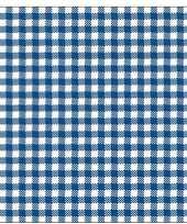 40x feest servetten blauw wit geruit 33 x 33 cm