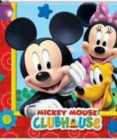40x mickey mouse feest servetten 33 x 33 cm kinderverjaardag